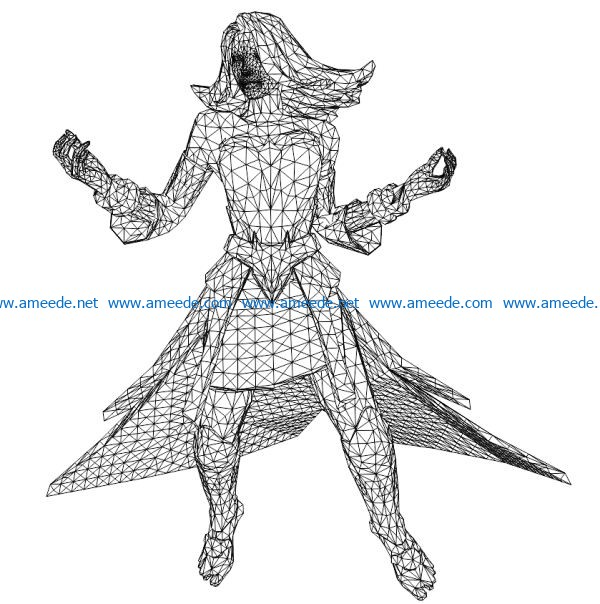 Lina heroine file cdr and dxf free vector download for laser engraving machines