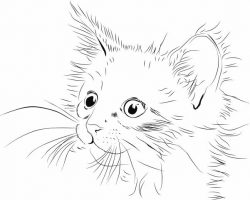 Lovely cat file cdr and dxf free vector download for print or laser engraving machines