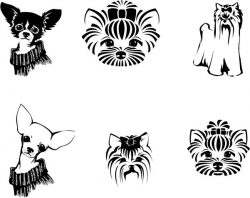 Lovely dogs file cdr and dxf free vector download for print or laser engraving machines