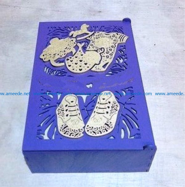Mother's treasure box file cdr and dxf free vector download for Laser cut