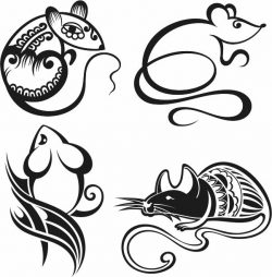 Mouse art file cdr and dxf free vector download for print or laser engraving machines