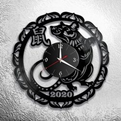 Mouse clock 2020 file cdr and dxf free vector download for Laser cut CNC