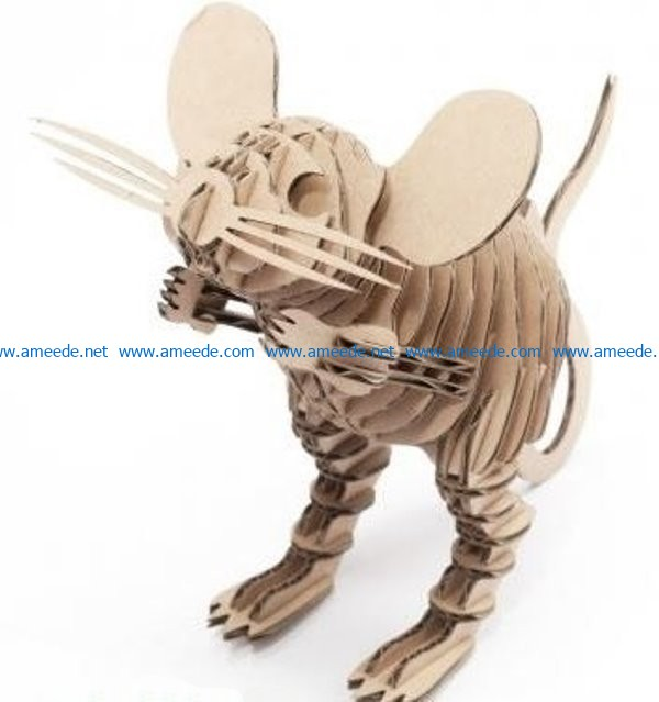 Mouse file cdr and dxf free vector download for Laser cut CNC