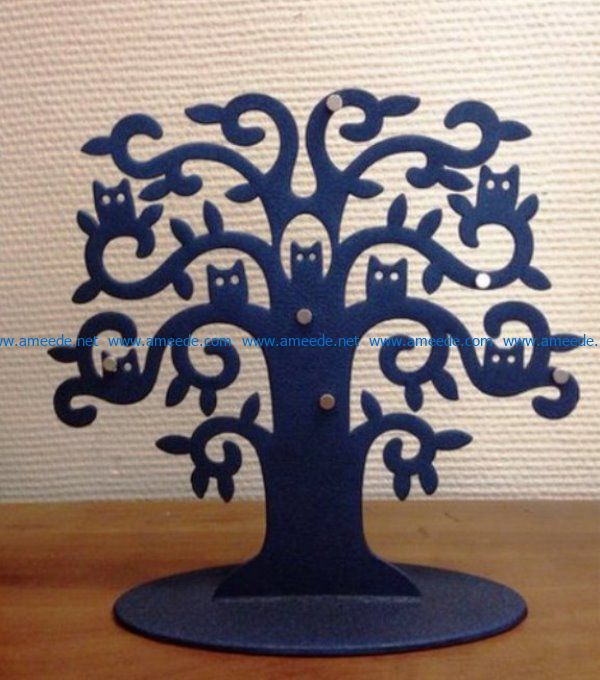 Owls on the tree file cdr and dxf free vector download for Laser cut