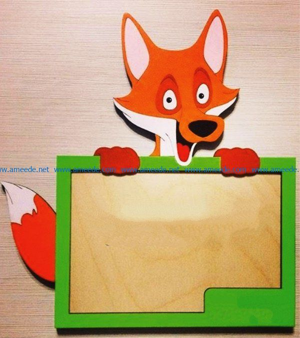 Photo frame fox file cdr and dxf free vector download for Laser cut