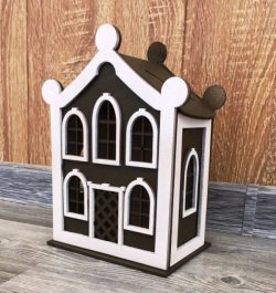Piggy house file cdr and dxf free vector download for Laser cut CNC
