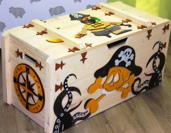 Pirate box file cdr and dxf free vector download for Laser cut CNC