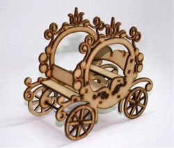 Princess Souvenir Carriage   file cdr and dxf free vector download for Laser cut