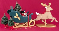 Reindeer and Sleigh file PDF free vector download for Laser cut CNC