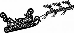 Reindeer and sleigh file cdr and dxf free vector download for laser engraving machines