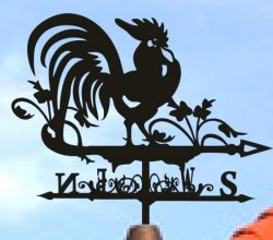 Rooster weather vane file cdr and dxf free vector download for Laser cut Plasma