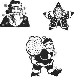 Santa Claus file cdr and dxf free vector download for print or laser engraving machines