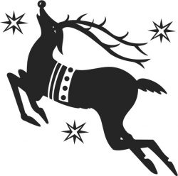 Santa's reindeer file cdr and dxf free vector download for print or laser engraving machines
