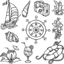 Sea icon file cdr and dxf free vector download for print or laser engraving machines