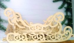 Sleigh with snowflakes file cdr and dxf free vector download for Laser cut