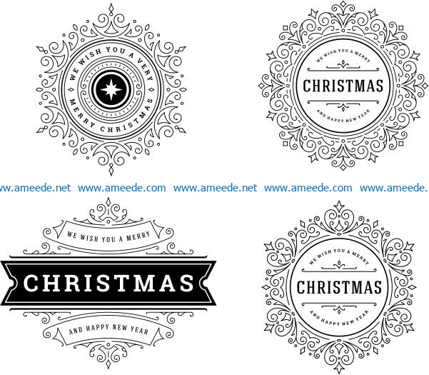 Snowflake banner template file cdr and dxf free vector download for print or laser engraving machines