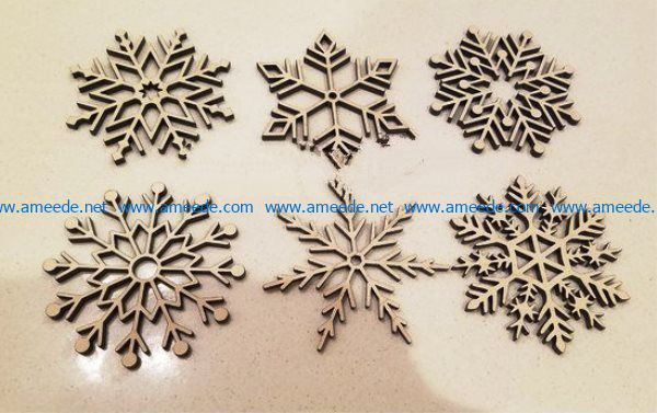 Snowflakes file cdr and dxf free vector download for Laser cut