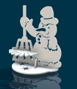 Snowman napkin holder file cdr and dxf free vector download for Laser cut