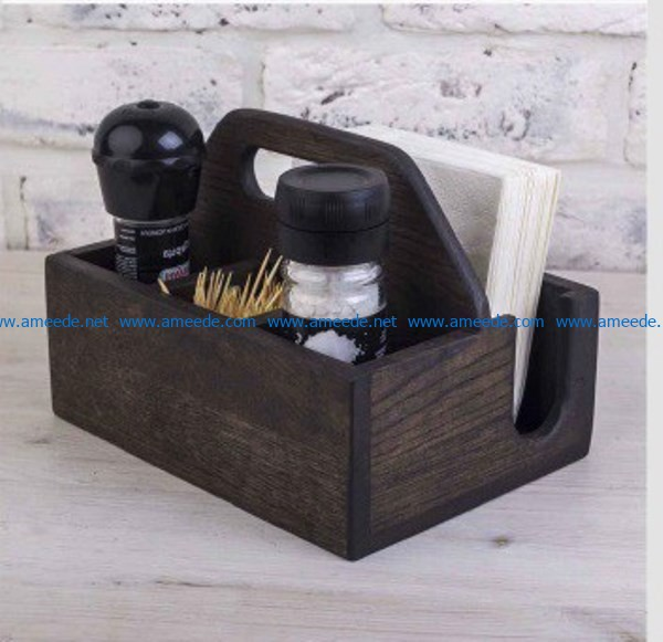 Spice And Napkin Organizer free vector download for Laser cut CNC