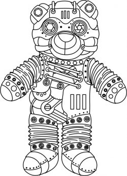 Steampunk Bear file cdr and dxf free vector download for print or laser engraving machines