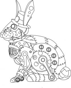 Steampunk Rabbit file cdr and dxf free vector download for print or laser engraving machines