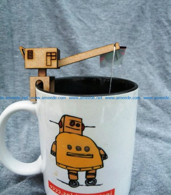 Tea Bag Crane file cdr and dxf free vector download for Laser cut