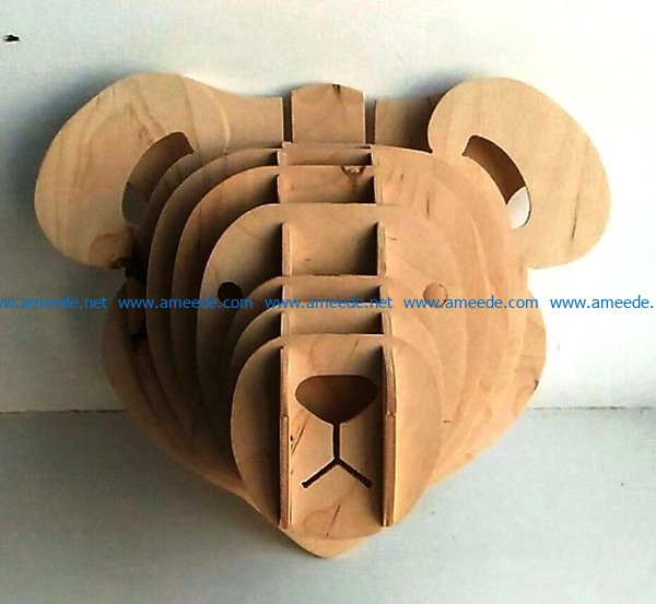 Teddy bear file cdr and dxf free vector download for Laser cut CNC