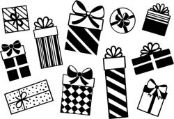 Template for christmas gift file cdr and dxf free vector download for print or laser engraving machines