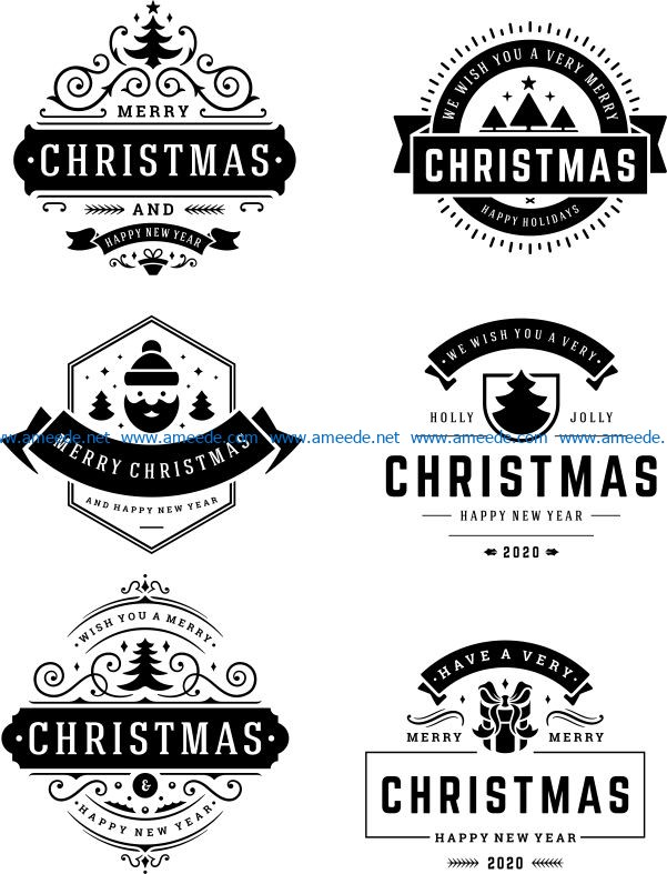 Template for happy new year banner file cdr and dxf free vector download for print or laser engraving machines