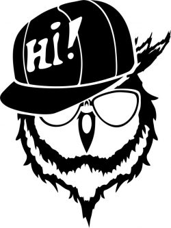 The owl and the hat file cdr and dxf free vector download for print or laser engraving machines