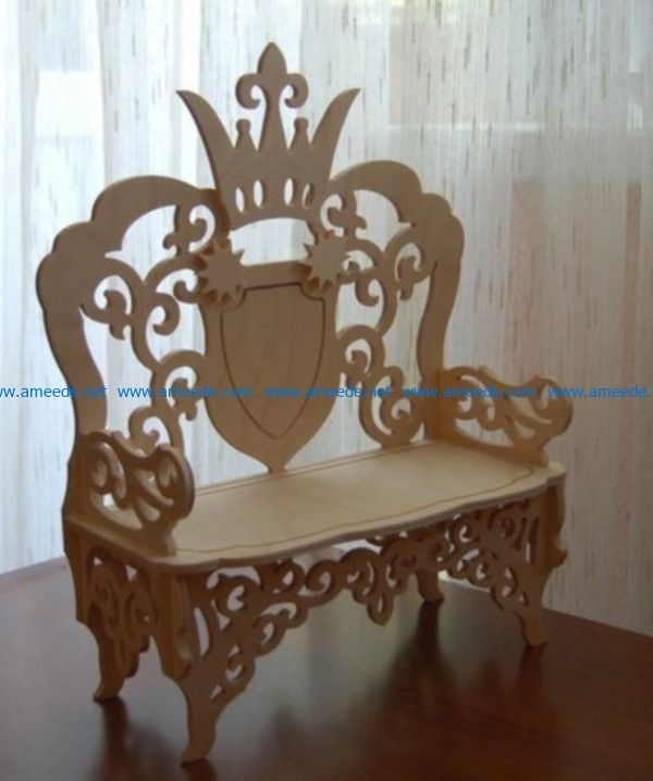 Throne file cdr and dxf free vector download for Laser cut CNC