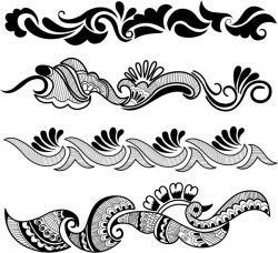 Traditional Indian pattern file cdr and dxf free vector download for laser engraving machines