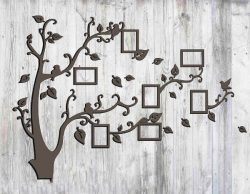 Tree photo frame file cdr and dxf free vector download for Laser cut