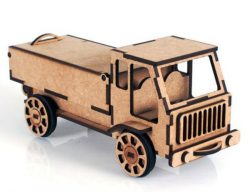 Truck file cdr and dxf free vector download for Laser cut