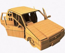 UNO Car file cdr and dxf free vector download for Laser cut