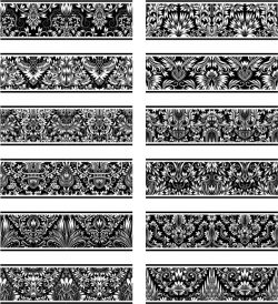 Unique contour pattern file cdr and dxf free vector download for laser engraving machines