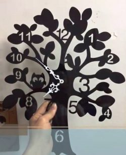 Wall clock tree file cdr and dxf free vector download for Laser cut