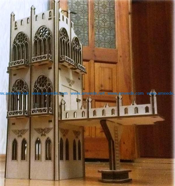 Warhammer terrain file cdr and dxf free vector download for Laser cut