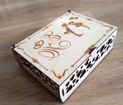 Wedding gift box file cdr and dxf free vector download for Laser cut