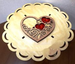 Wedding heart under the rings file cdr and dxf free vector download for Laser cut