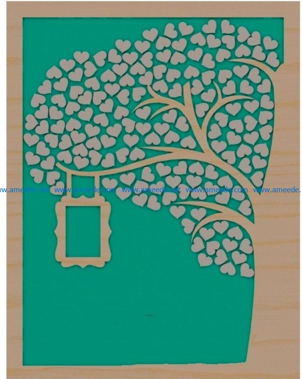 Wedding tree file cdr and dxf free vector download for Laser cut