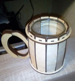 Wooden cup file cdr and dxf free vector download for Laser cut