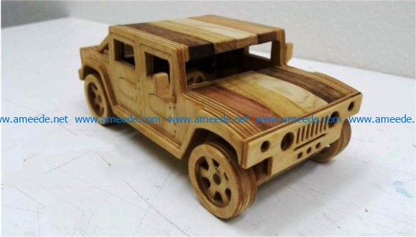 Wooden jeep car file cdr and dxf free vector download for Laser cut CNC