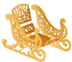 Wooden sleigh file cdr and dxf free vector download for Laser cut CNC