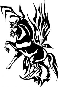 a horse with one leg raised file cdr and dxf free vector download for print or laser engraving machines
