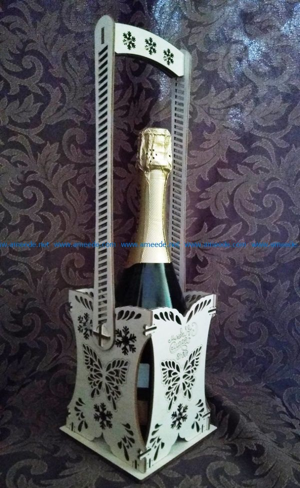 box for champagne file cdr and dxf free vector download for Laser cut