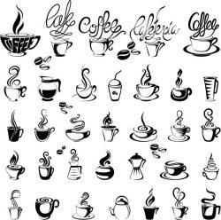 coffee icon file cdr and dxf free vector download for print or laser engraving machines