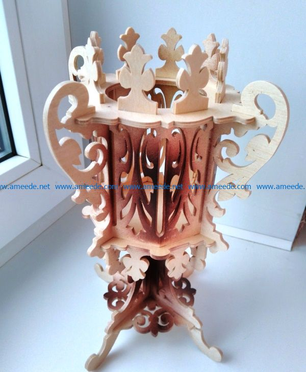 gothic cup file cdr and dxf free vector download for Laser cut CNC