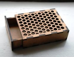 honeycomb box file cdr and dxf free vector download for Laser cut