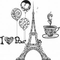 i love paris file cdr and dxf free vector download for print or laser engraving machines